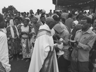 Fr. Ubald leads a healing service